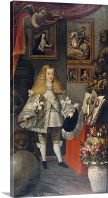 King Charles II of Spain as a Child and his Ancestors. Ca. 1667
