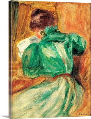 La Liseuse Verte, by Pierre-Auguste Renoir, ca. 1894. Musee d'Orsay, Paris, France