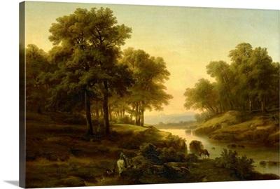 Landscape, 1830-45, Dutch painting, oil on canvas
