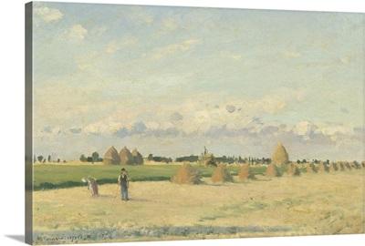 Landscape, Ile-de-France, by Camille Pissarro, 1873
