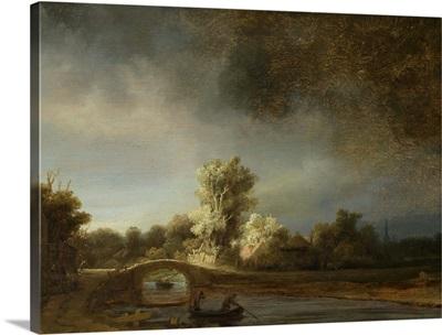 Landscape with a Stone Bridge, by Rembrandt van Rijn, 1638