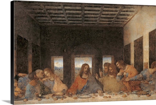 Last Supper (after restoration) by Leonardo da Vinci, 1495 ... Da Vinci Last Supper Restored