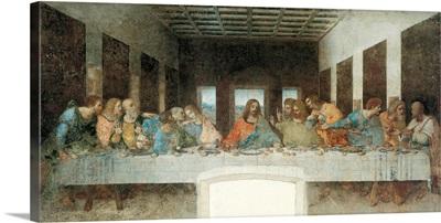 Last Supper, by Leonardo da Vinci, 1495-1497. Santa Maria delle Grazie, Milan, Italy