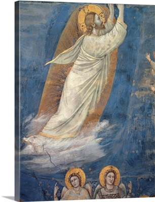 Life of Christ, The Ascension, by Giotto, c. 1304-1306. Scrovegni Chapel, Padua, Italy