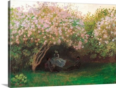 Lilacs. Grey Weather, by Claude Monet, 1872-1873. Musee d'Orsay, Paris, France