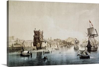 Lisbon (1558). Departure of the Spanish Armada (Invincible Fleet) towards England