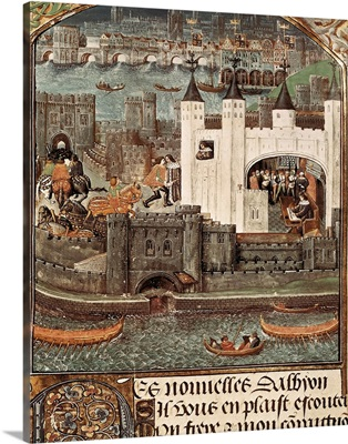 London and the Thames (15th c.) Gothic art