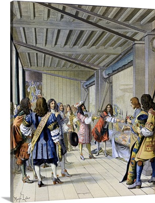 Louis XIV of France Visiting the Gobelins Tapestry Works with Le Brun