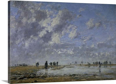 Low Tide at Etaples, By French Impressionist Eugene Louis Boudin, 1886
