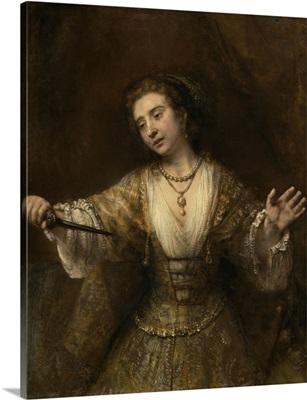 Lucretia, by Rembrandt van Rijn, 1664