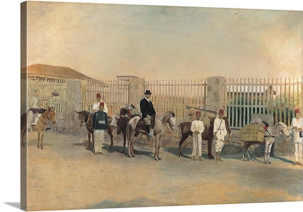 Luigi Bocconi with Ascari in Asmara, by Unknown Artist, 1896  Bocconi  University, Milan