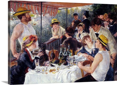 Luncheon of the Boating Party, 1880-81, By French impressionist Pierre Auguste Renoir