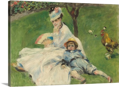 Madame Monet and Her Son, by Auguste Renoir, 1874