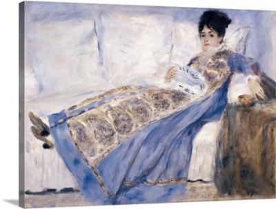 Madame Monet lying on a Sofa