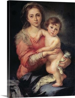 Madonna and Child, Bartolomo Esteban Murillo, 1650-1655, Palazzo Pitti, Florence, Italy
