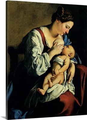 Madonna and Child, by Orazio Gentileschi, 1609, National Museum of Art, Romania