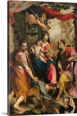 Madonna And Child With St. Simon And St. Jude, By  Barocci, 1567.