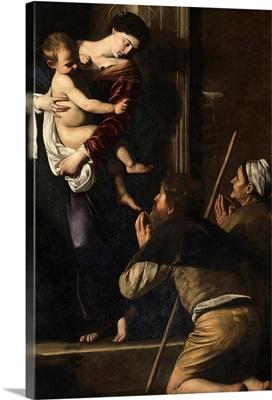 Madonna di Loreto, by Caravaggio, c. 1604-1606. Sant Agostino Church, Cavalletti Chapel