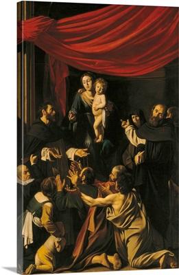 Madonna Of The Rosary, By Caravaggio, C. 1606-1607. Vienna, Austria