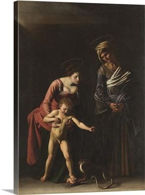 Madonna Palafrenieri, by Caravaggio, 1605. Borghese Gallery, Rome, Italy