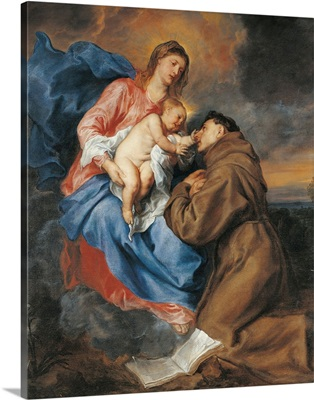 Madonna With Child and St. Anthony Of Padua, 17Th C. Brera Gallery, M