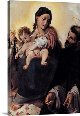Madonna With Child and St. Dominic (Madonna Of Rosary), C.1585-1587
