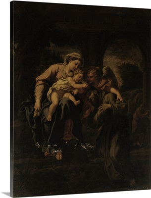 Madonna With Child, St. Francis, An Angel, By Agostino Carracci, c. 1560-1608