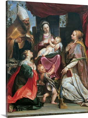 Madonna With Child, Young St. John, Sts. Benedict, Margaret and Cecilia
