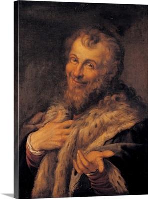 Male Portrait, by Agostino Carracci, c.1580-1602. Capodimonte National Museum, Naples