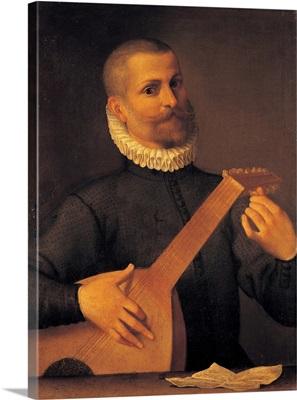 Mandola Player, by Agostino Carracci, c.1580-1602. Capodimonte National Museum