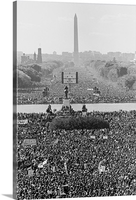 Marchers on the National Mall during the Million Man March