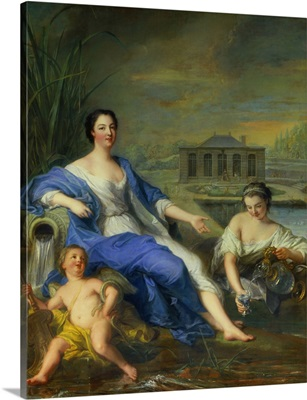 Marie-Anne de Bourbon-Conde, Taking Mineral Water at Chantilly 1729