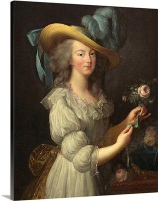 Marie-Antoinette, by Elisabeth-Louise Vigee Le Brun, 1783