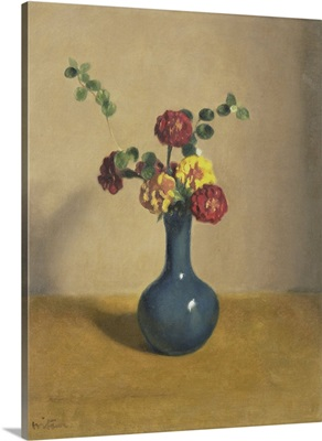 Marigold Flowers in a Blue Vase, by Willem Witsen, c. 1890-1920