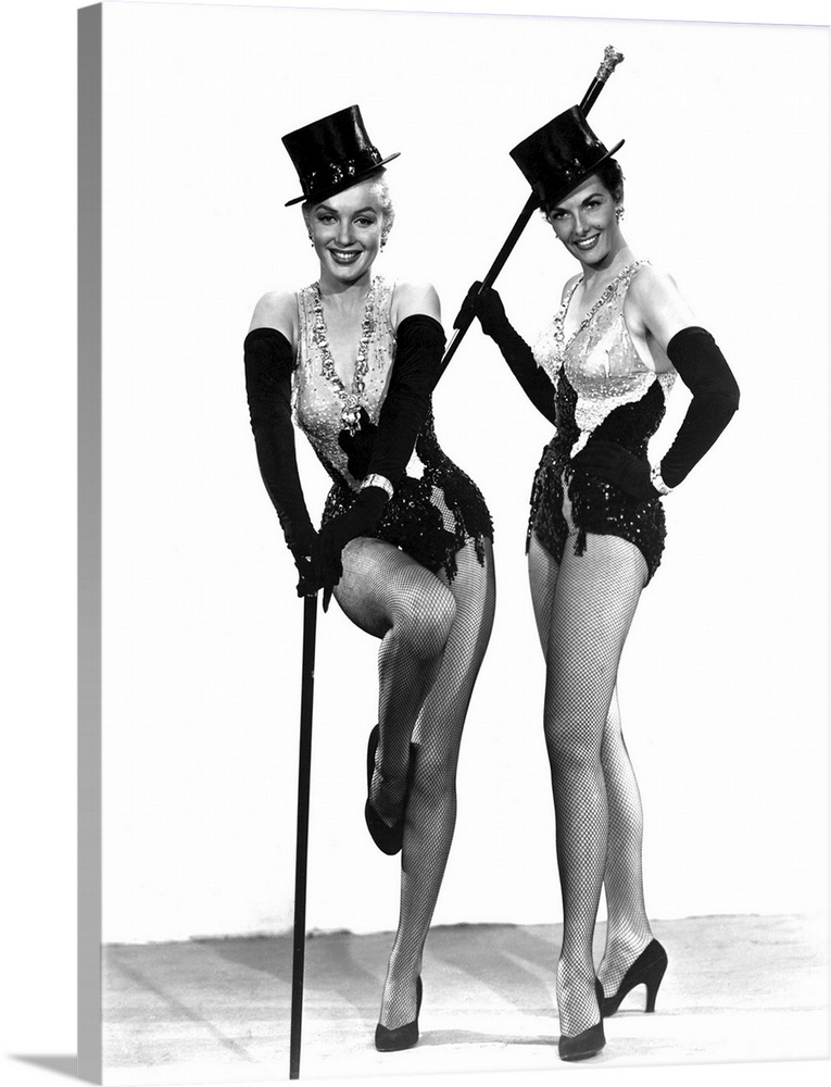 Marilyn Monroe And Jane Russell In Gentlemen Prefer Blondes Vintage Publicity Photo Wall Art Canvas Prints Framed Prints Wall Peels Great Big Canvas
