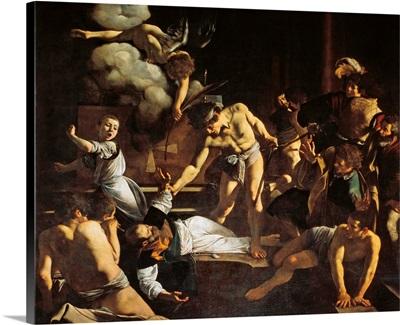Martyrdom of St. Matthew, by Caravaggio, 1599-1600. San Luigi dei Francesi Church, Rome