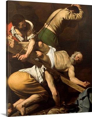 Martyrdom of St. Peter, by Caravaggio, 1600-1601. Santa Maria del Popolo Church, Rome