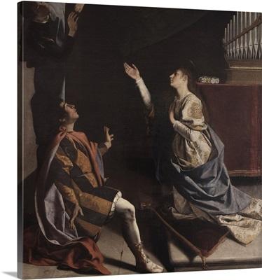 Martyrs Cecilia, Valerian And Tiburcio Visited By Angel, By Orazio Gentileschi, 1620