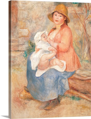 Maternity also called Child at the Breast, by Pierre-Auguste Renoir, ca. 1885