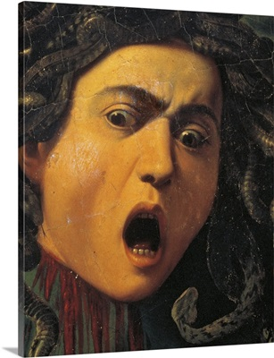 Medusa, by Caravaggio, c. 1596-1598. Uffizi Gallery, Florence, Italy. Detail