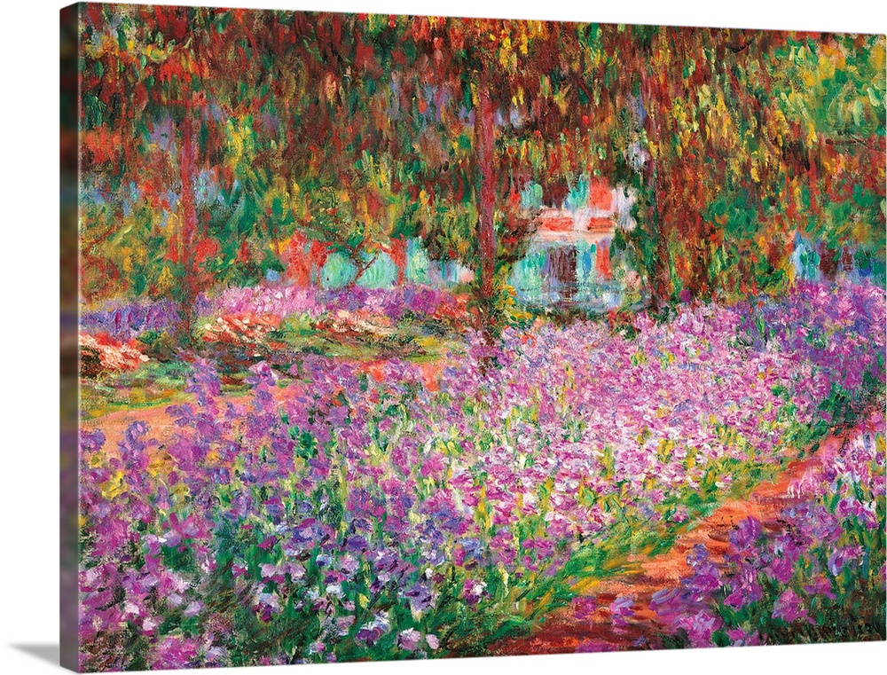 Monetu0027s Garden At Giverny, By Claude Monet, 1900. Musee Du0027Orsay,