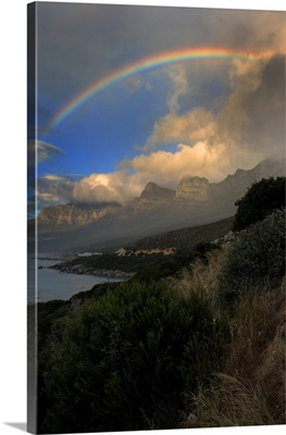 Mountain With Rainbow In Cape town, South Africa