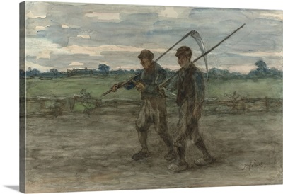 Mowers, by Jozef Israels, c 1860-1910