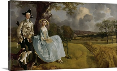 Mr, and Mrs, Andrews, 1750, By Thomas Gainsborough, English, oil on canvas