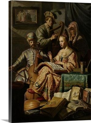 Musical Company, by Rembrandt van Rijn, 1626