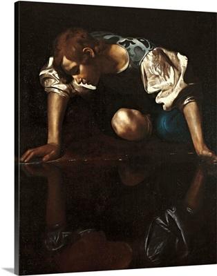 Narcissus, by Caravaggio, 1599-1600. Palazzo Barberini. Rome, Italy