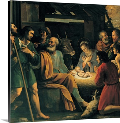Nativity and the Adoration of the Shepherds, by Giuseppe Vermiglio. Brera Gallery, Milan