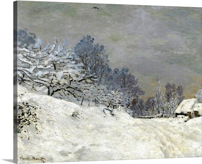 Near Honfleur-Snow, 1867, By French impressionist Claude Monet