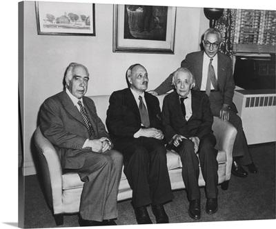 Niels Bohr, James Franck, Albert Einstein, and Isidor Rabi