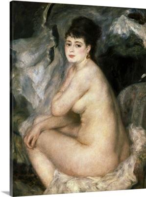 Nudeor Nude Seated on a Sofa (Anna)